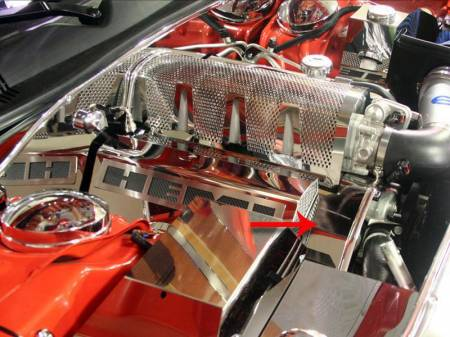 American Car Craft - American Car Craft Polished Engine Harness Cover: Dodge Challenger 6.1L SRT8 2008 - 2010