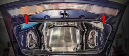 American Car Craft - American Car Craft Polished Upper Hood Cap (CHALLENGER LETTERING): Dodge Challenger 2015 - 2020