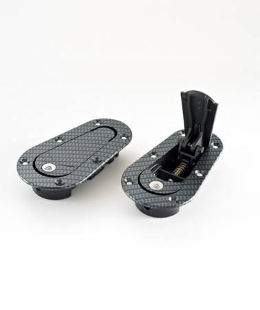 AeroCatch - AeroCatch Flush Hood Pin and Latch Kit (Universal) CARBON FIBER LOOK - LOCKING
