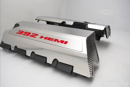 "American Car Craft - American Car Craft ""392"" Polished Fuel Rail Covers (CARBON FIBER): Dodge / Chrysler / Jeep 6.4L 392 2011 - 2021"