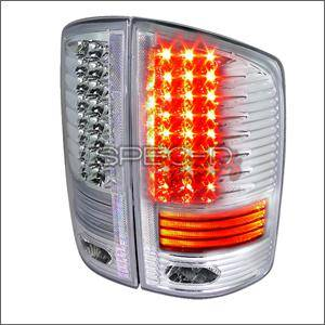 HEMI LIGHTING PARTS - Hemi Tail Lights - Spec D - Spec D LED Tail Lights (Chrome): Dodge Ram 2002 - 2006