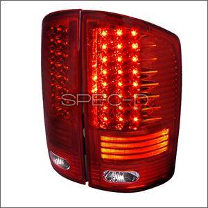 HEMI LIGHTING PARTS - Hemi Tail Lights - Spec D - Spec D LED Tail Lights (Red): Dodge Ram 2002 - 2006