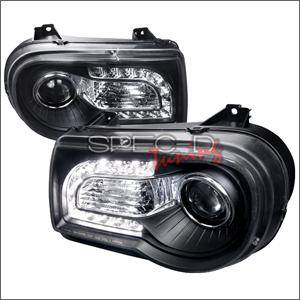 Chrysler 300 Lighting Parts - Chrysler 300 Projector Headlights - Spec D - Spec D LED HeadLights (Black): Chrysler 300C 2005 - 2010