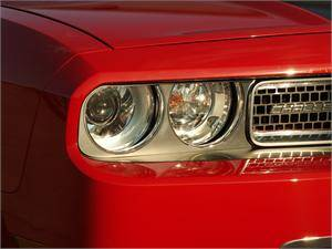 HEMI EXTERIOR PARTS - Hemi Trim Accessories - American Car Craft - American Car Craft Brushed Headlight Surrounds: Dodge Challenger R/T SRT8 2008 - 2014
