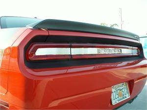 HEMI EXTERIOR PARTS - Hemi Trim Accessories - American Car Craft - American Car Craft Brushed Tail Light Insert Trim Plate: Dodge Challenger R/T SRT8 2008 - 2014