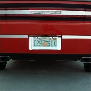 HEMI EXTERIOR PARTS - Hemi Trim Accessories - American Car Craft - American Car Craft Polished Tag Back Plate: Dodge Challenger R/T SRT8 2008 - 2014