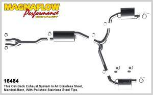 2.7L / 3.5L / 3.6L V6 Engine Parts - 2.7L / 3.5L / 3.6L Exhaust - Magnaflow - MagnaFlow Cat-Back Exhaust: Dodge Challenger 3.5L V6 2009 - 2010