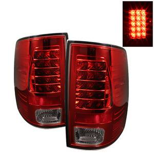Dodge Ram Lighting Parts - Dodge Ram Tail Lights - Spyder - Spyder Red / Smoke LED Tail Lights: Dodge Ram 2009 - 2012