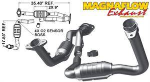 3.7L / 4.7L Engine Parts - 3.7L / 4.7L Exhaust Systems - Magnaflow - MagnaFlow High Flow Catalytic Converter: Jeep Grand Cherokee 2007 - 2010 3.7L