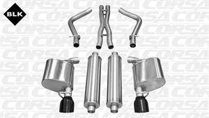 Corsa - Corsa Extreme Cat-Back Exhaust (Black): Chrysler 300C 5.7L Hemi 2011 - 2014