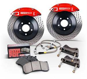 Chrysler 300 Brake Upgrades - Chrysler 300 Big Brake Kits - Stoptech - Stoptech 4-Piston Front Big Brake Kit: 300 / Challenger / Charger / Magnum 2005 - 2020 (Exc. SRT)