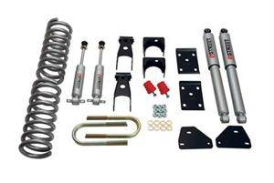 HEMI SUSPENSION PARTS - Hemi Lowering Springs - Belltech - Belltech Lowering Kit With SP Shocks: Dodge Ram (Regular & Crew Cab) 2006 - 2008