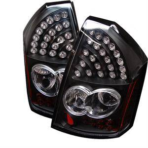 HEMI LIGHTING PARTS - Hemi Tail Lights - Spyder - Spyder Black LED Tail Lights: Chrysler 300C 2005 - 2007