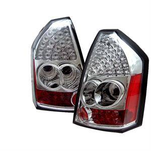 Chrysler 300 Lighting Parts - Chrysler 300 LED Tail Lights - Spyder - Spyder Chrome LED Tail Lights: Chrysler 300C 2005 - 2007