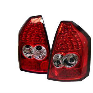 Chrysler 300 Lighting Parts - Chrysler 300 LED Tail Lights - Spyder - Spyder Red / Clear LED Tail Lights: Chrysler 300C 2005 - 2007