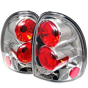 HEMI LIGHTING PARTS - Hemi Tail Lights - Spyder - Spyder Chrome Euro Tail Lights: Dodge Durango 1998 - 2003