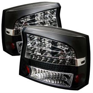 HEMI LIGHTING PARTS - Hemi Tail Lights - Spyder - Spyder Black LED Tail Lights: Dodge Charger 2006 - 2008