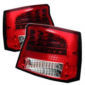 Dodge Charger Lighting Parts - Dodge Charger Tail Lights - Spyder - Spyder Red / Clear LED Tail Lights: Dodge Charger 2006 - 2008