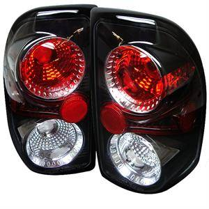 HEMI LIGHTING PARTS - Hemi Tail Lights - Spyder - Spyder Black Euro Tail Lights: Dodge Dakota 1997 - 2004
