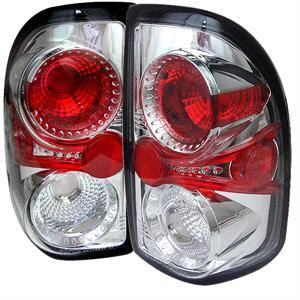 HEMI LIGHTING PARTS - Hemi Tail Lights - Spyder - Spyder Chrome Euro Tail Lights: Dodge Dakota 1997 - 2004