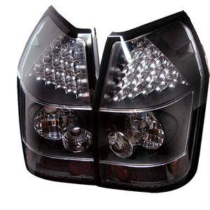 HEMI LIGHTING PARTS - Hemi Tail Lights - Spyder - Spyder Black LED Tail Lights: Dodge Magnum 2005 - 2008