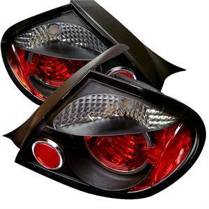 HEMI LIGHTING PARTS - Hemi Tail Lights - Spyder - Spyder Black Euro Tail Lights: Dodge Neon 2003 - 2005 (Incl SRT-4)