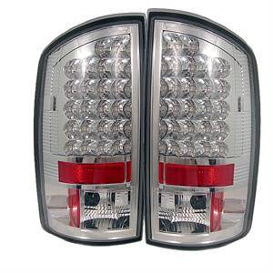 HEMI LIGHTING PARTS - Hemi Tail Lights - Spyder - Spyder Chrome LED Tail Lights: Dodge Ram 2002 - 2006 (All Models)