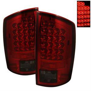 HEMI LIGHTING PARTS - Hemi Tail Lights - Spyder - Spyder Red / Smoke LED Tail Lights: Dodge Ram 2002 - 2006 (All Models)