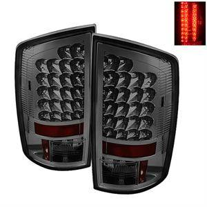 HEMI LIGHTING PARTS - Hemi Tail Lights - Spyder - Spyder Smoke LED Tail Lights: Dodge Ram 2002 - 2006 (All Models)