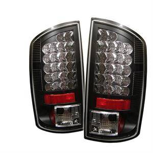 HEMI LIGHTING PARTS - Hemi Tail Lights - Spyder - Spyder Black LED Tail Lights: Dodge Ram 2007 - 2008 (All Models)