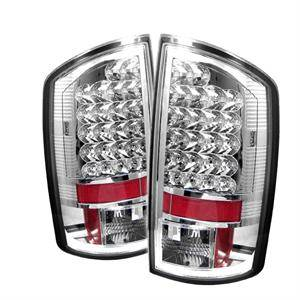 HEMI LIGHTING PARTS - Hemi Tail Lights - Spyder - Spyder Chrome LED Tail Lights: Dodge Ram 2007 - 2008 (1500 / 2500 / 3500 Models)