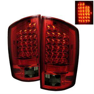 Dodge Ram Lighting Parts - Dodge Ram Tail Lights - Spyder - Spyder Red / Smoke LED Tail Lights: Dodge Ram 2007 - 2008 (All Models)