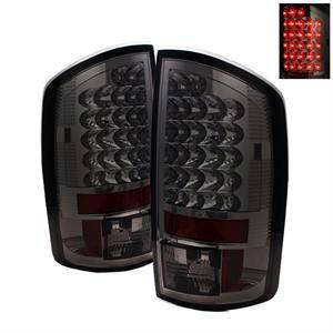 Dodge Ram Lighting Parts - Dodge Ram Tail Lights - Spyder - Spyder Smoke LED Tail Lights: Dodge Ram 2007 - 2008 (All Models)
