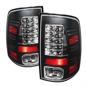 HEMI LIGHTING PARTS - Hemi Tail Lights - Spyder - Spyder Black LED Tail Lights: Dodge Ram 2009 - 2012