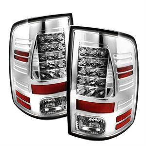 HEMI LIGHTING PARTS - Hemi Tail Lights - Spyder - Spyder Chrome LED Tail Lights: Dodge Ram 2009 - 2012
