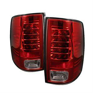Dodge Ram Lighting Parts - Dodge Ram Tail Lights - Spyder - Spyder Red / Clear LED Tail Lights: Dodge Ram 2009 - 2012