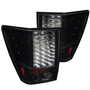 HEMI LIGHTING PARTS - Hemi Tail Lights - Spyder - Spyder Black LED Tail Lights: Jeep Grand Cherokee 2007 - 2010