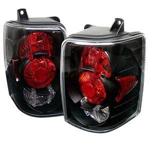 HEMI LIGHTING PARTS - Hemi Tail Lights - Spyder - Spyder Black Euro Tail Lights: Jeep Grand Cherokee 1993 - 1998