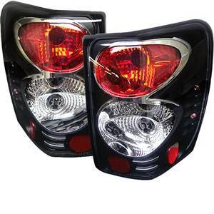 HEMI LIGHTING PARTS - Hemi Tail Lights - Spyder - Spyder Black Euro Tail Lights: Jeep Grand Cherokee 1999 - 2004