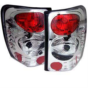 HEMI LIGHTING PARTS - Hemi Tail Lights - Spyder - Spyder Chrome Euro Tail Lights: Jeep Grand Cherokee 1999 - 2004