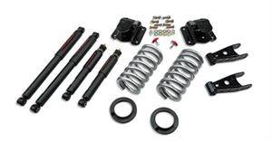 "HEMI SUSPENSION PARTS - Hemi Lowering Springs - Belltech - Belltech Lowering Kit 2"" or 3"" F 4"" R drop With ND Shocks: Dodge Ram V8 (Regular Cab Auto Trans) 1994 - 1999"