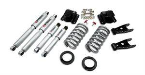 "Belltech - Belltech Lowering Kit 2"" or 3"" F 4"" R drop With SP Shocks: Dodge Ram V8 (Regular Cab Auto Trans) 1994 - 1999"