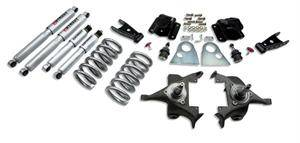 "Belltech - Belltech Lowering Kit 3"" F 4"" R drop With SP Shocks: Dodge Ram V8 (Regular Cab Auto Trans) 1994 - 1999"
