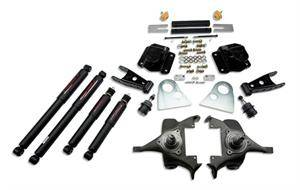 "Belltech - Belltech Lowering Kit 2"" F 4"" R drop With ND Shocks: Dodge Ram V8 (Extended Cab Auto Trans) 1994 - 1999"
