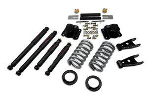 "HEMI SUSPENSION PARTS - Hemi Lowering Springs - Belltech - Belltech Lowering Kit 2"" Or 3"" F 4"" R drop With SP Shocks: Dodge Ram V8 (Extended Cab Auto Trans) 1994 - 1999"