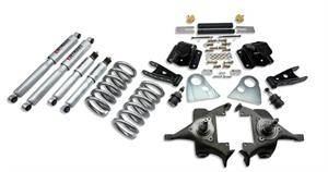 "HEMI SUSPENSION PARTS - Hemi Lowering Springs - Belltech - Belltech Lowering Kit 3"" F 4"" R drop With SP Shocks: Dodge Ram V8 (Extended Cab Auto Trans) 1994 - 1999"