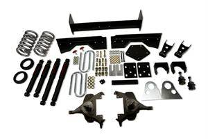 "Belltech - Belltech Lowering Kit 4"" Or 5"" F 6"" Or 7"" R drop With ND Shocks: Dodge Ram V8 (Extended Cab Auto Trans) 1994 - 1999"