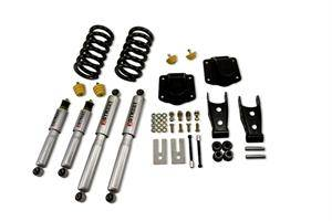 "HEMI SUSPENSION PARTS - Hemi Lowering Springs - Belltech - Belltech Lowering Kit 3"" F 4"" R drop With SP Shocks: Dodge Ram 2500 (V10 & Diesel) 1994 - 2002"