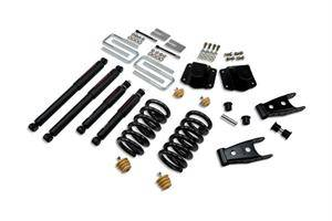 "Belltech - Belltech Lowering Kit 3"" F 4"" R drop With ND Shocks: Dodge Ram 3500 (V10 & Diesel) 1994 - 2002"