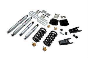 "Belltech - Belltech Lowering Kit 3"" F 4"" R drop With SP Shocks: Dodge Ram 3500 (V10 & Diesel) 1994 - 2002"